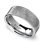 Gumshoe - 6mm Flat Tungsten Mens Band with Fingerprint Engraving | Thumbnail 01