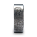 Gumshoe - 6mm Flat Tungsten Mens Band with Fingerprint Engraving | Thumbnail 03