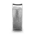 Fingerprint Engraved Men's Wedding Ring in Tungsten (8mm)   Thumbnail 03