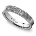 Fingerprint Engraved Wedding Ring in Tungsten (4mm) | Thumbnail 01