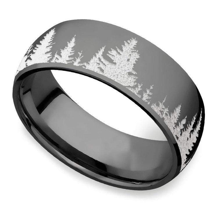 First Snow - Zirconium Mens Ring | 01
