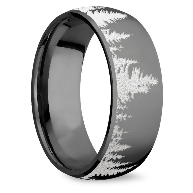 First Snow - Zirconium Mens Ring | 02