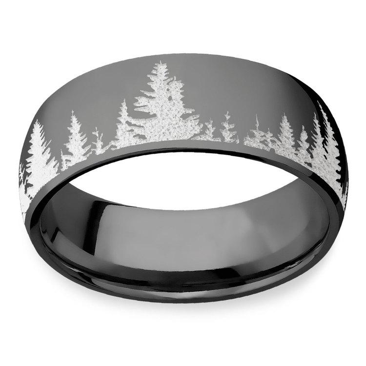 First Snow - Zirconium Mens Ring | 03