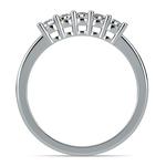 Five Diamond Wedding Ring in Platinum | Thumbnail 03