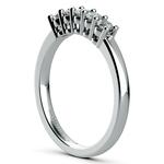 Five Diamond Wedding Ring in Platinum | Thumbnail 04
