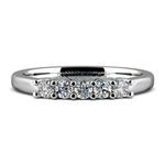 Five Diamond Wedding Ring in Platinum | Thumbnail 05