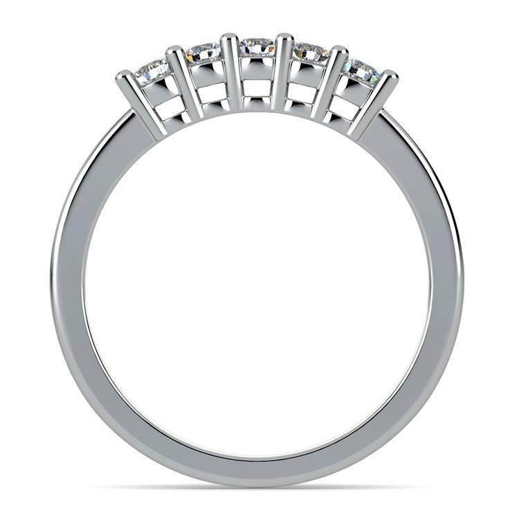 Five Diamond Wedding Ring in Platinum | 03