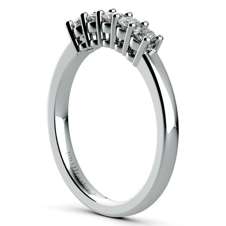 Five Diamond Wedding Ring in Platinum | 04