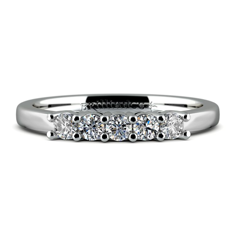 Five Diamond Wedding Ring in Platinum | 05