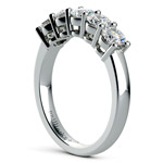 Five Diamond Wedding Ring in White Gold (1 ctw) | Thumbnail 04