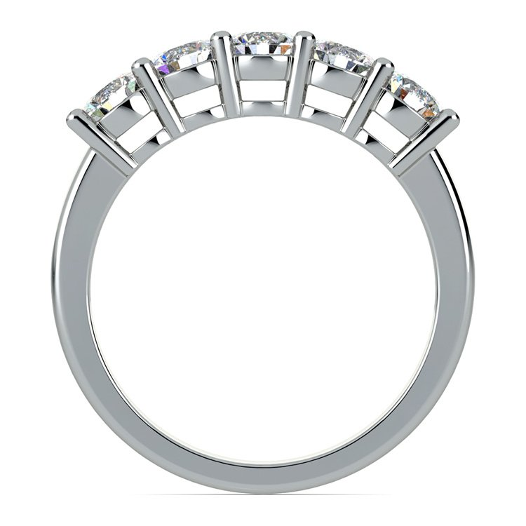 Five Diamond Wedding Ring in White Gold (1 ctw) | 03