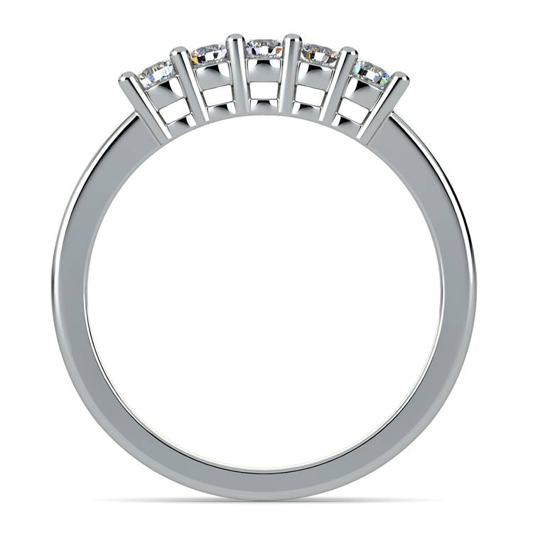 Five Diamond Wedding Ring in White Gold | 03