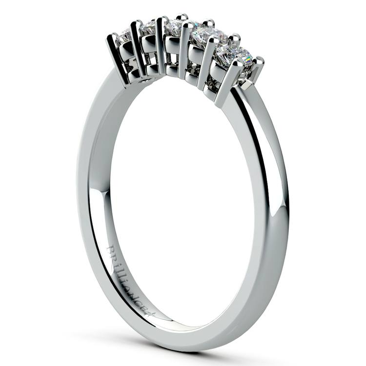 Five Diamond Wedding Ring in White Gold | 04