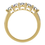 Five Diamond Wedding Ring in Yellow Gold (1 ctw) | Thumbnail 03