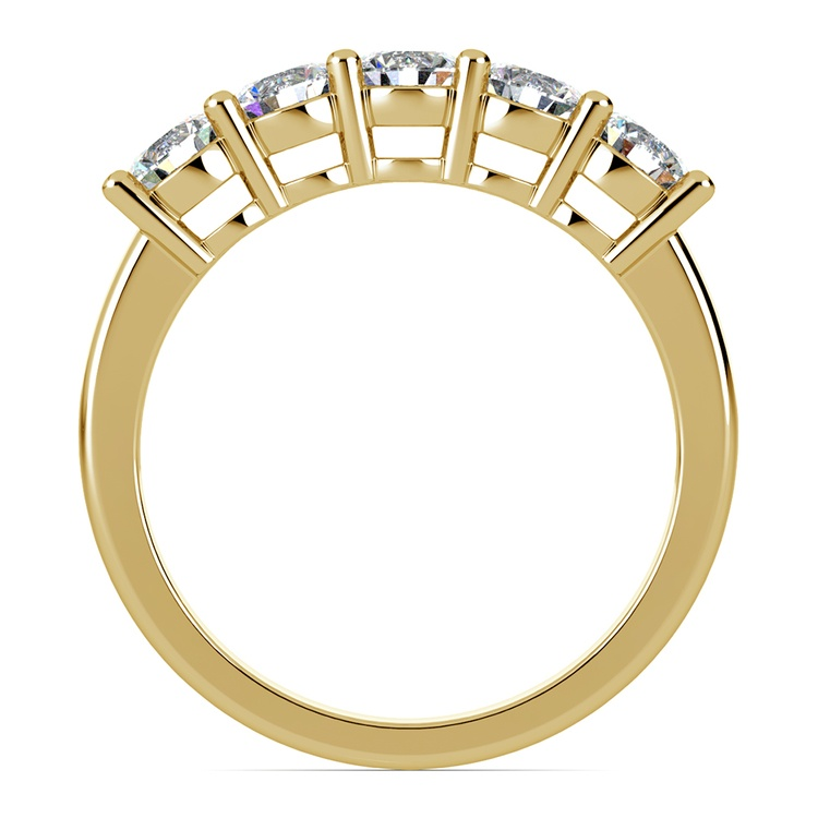 Five Diamond Wedding Ring in Yellow Gold (1 ctw) | 03