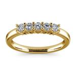 Five Diamond Wedding Ring in Yellow Gold  | Thumbnail 02