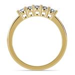 Five Diamond Wedding Ring in Yellow Gold  | Thumbnail 03