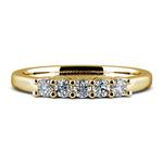 Five Diamond Wedding Ring in Yellow Gold  | Thumbnail 05