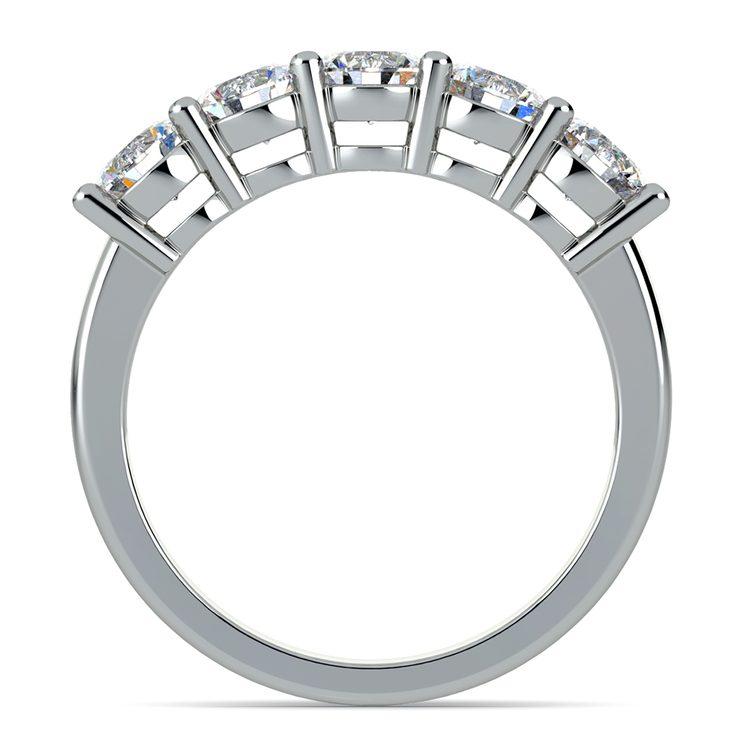 Five Diamond Wedding Ring in Platinum (2 ctw) | 03