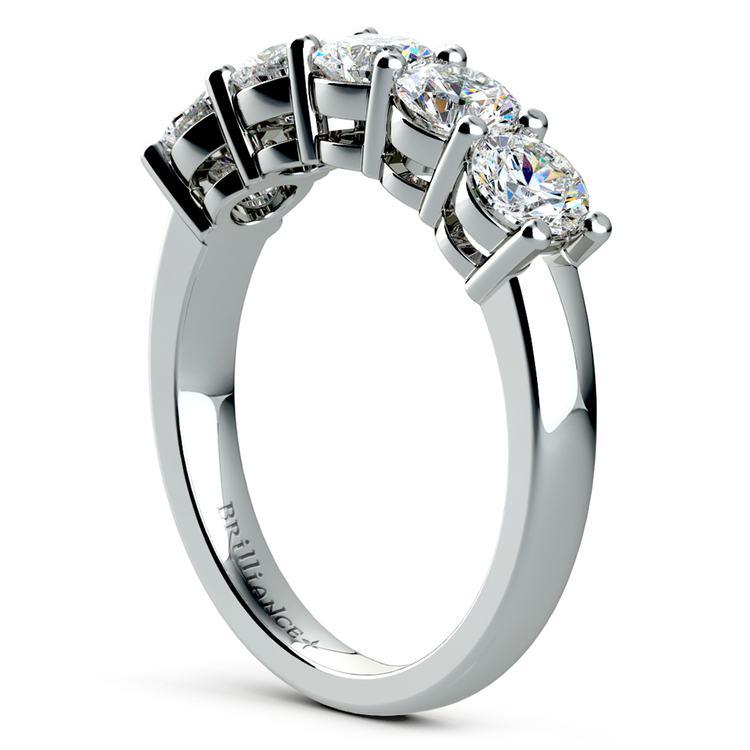 Five Diamond Wedding Ring in Platinum (2 ctw) | 04