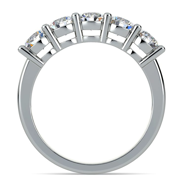 Five Diamond Wedding Ring in White Gold (2 ctw) | 03