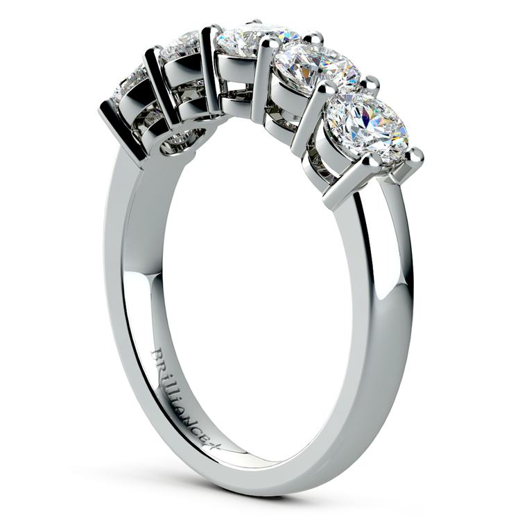 Five Diamond Wedding Ring in White Gold (2 ctw) | 04