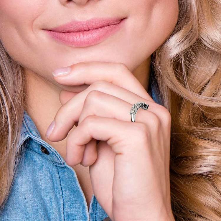 Five Diamond Wedding Ring in White Gold (2 ctw) | 06