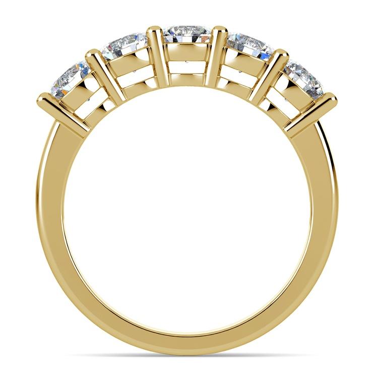 Five Diamond Wedding Ring in Yellow Gold (2 ctw) | 03