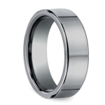 Flat Comfort Fit Men's Wedding Ring in Tungsten (6mm) | Thumbnail 02