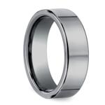 Flat Comfort Fit Men's Wedding Ring in Tungsten (6mm) | Thumbnail 02