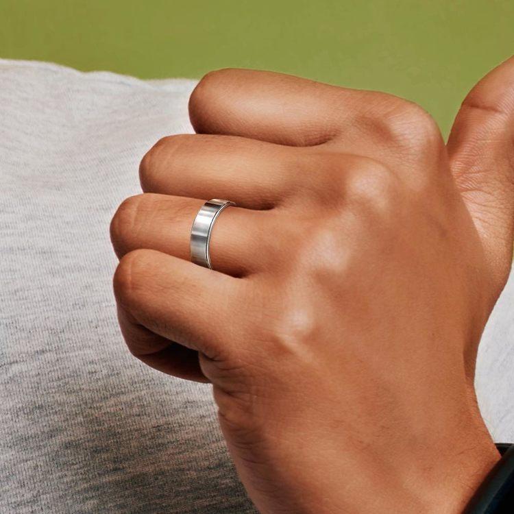 Flat Comfort Fit Men's Wedding Ring in Tungsten (6mm) | 04