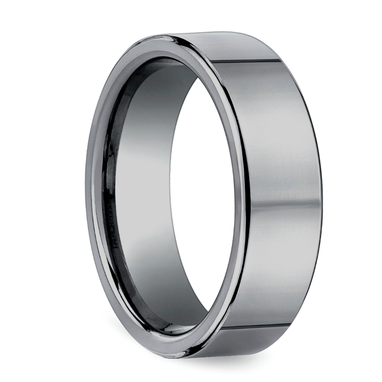 Flat Comfort Fit Men's Wedding Ring in Tungsten (6mm) | 02