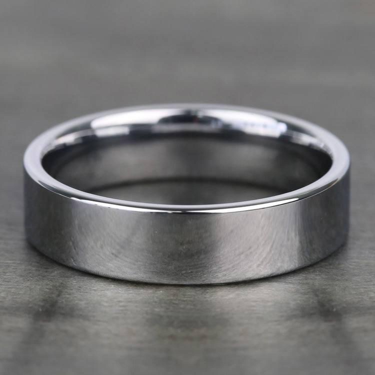 Flat Comfort Fit Men's Wedding Ring in Tungsten (6mm) | 03