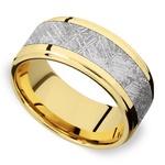 Supernova - Yellow Gold & Meteorite Mens Wedding Band | Thumbnail 01
