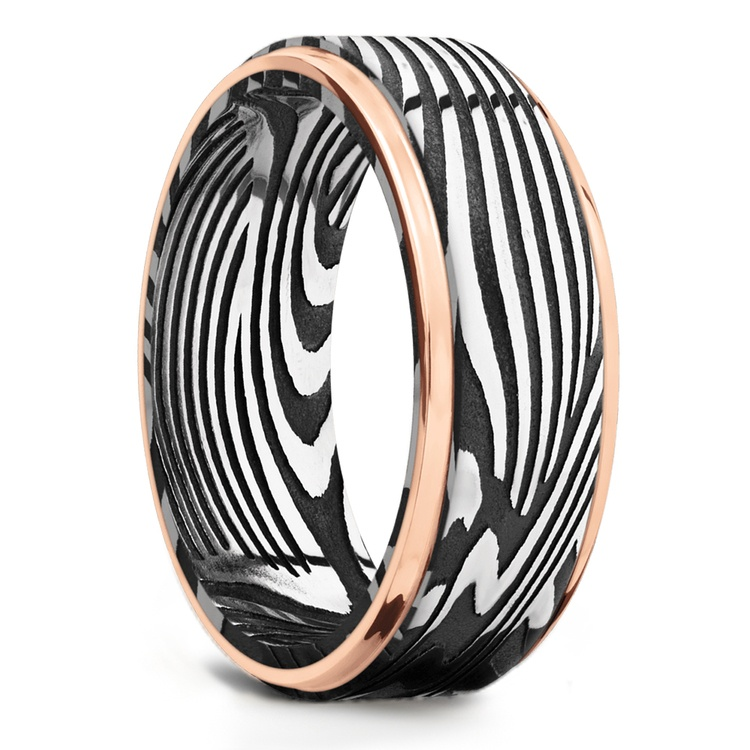 Last Night in Ibiza - Sunset Damascus Mens Wedding Band | 02