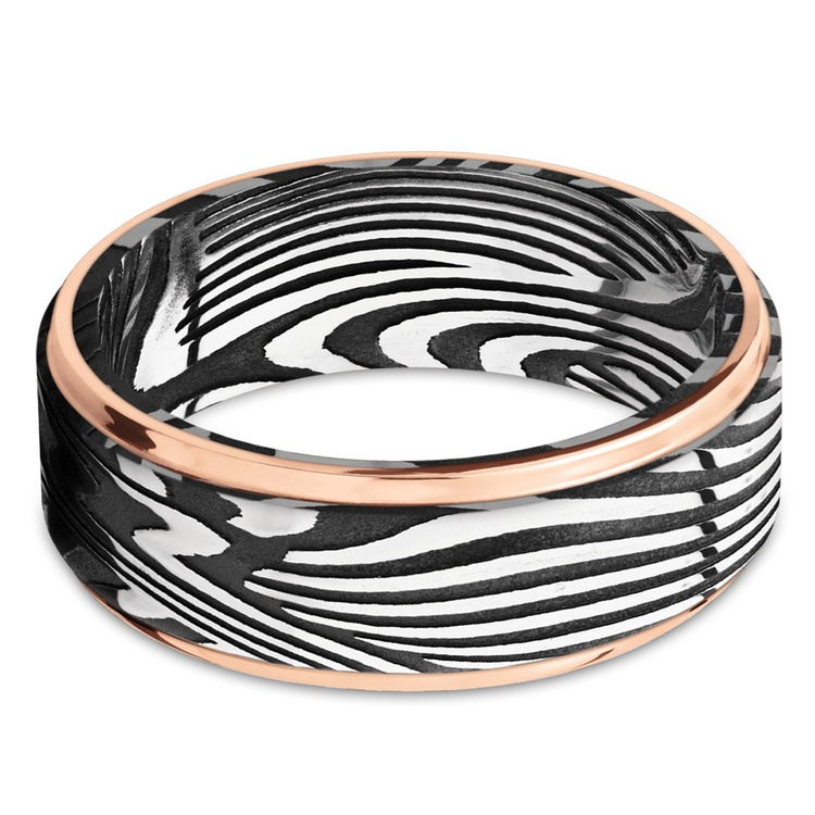 Last Night in Ibiza - Sunset Damascus Mens Wedding Band | 03