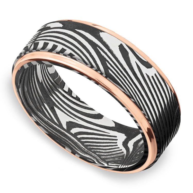 Last Night in Ibiza - Sunset Damascus Mens Wedding Band | 01