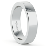 Flat Men's Wedding Band in White Gold (5mm) | Thumbnail 02