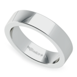 Flat Men's Wedding Band in White Gold (5mm) | Thumbnail 01
