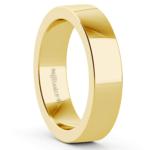 Flat Men's Wedding Band in Yellow Gold (5mm)   Thumbnail 02