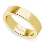 Flat Men's Wedding Band in Yellow Gold (5mm)   Thumbnail 01