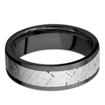 Interstellar - Meteorite & Zirconium Mens Wedding Band | Thumbnail 03