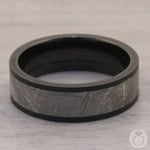 Interstellar - Meteorite & Zirconium Mens Wedding Band | Thumbnail 04