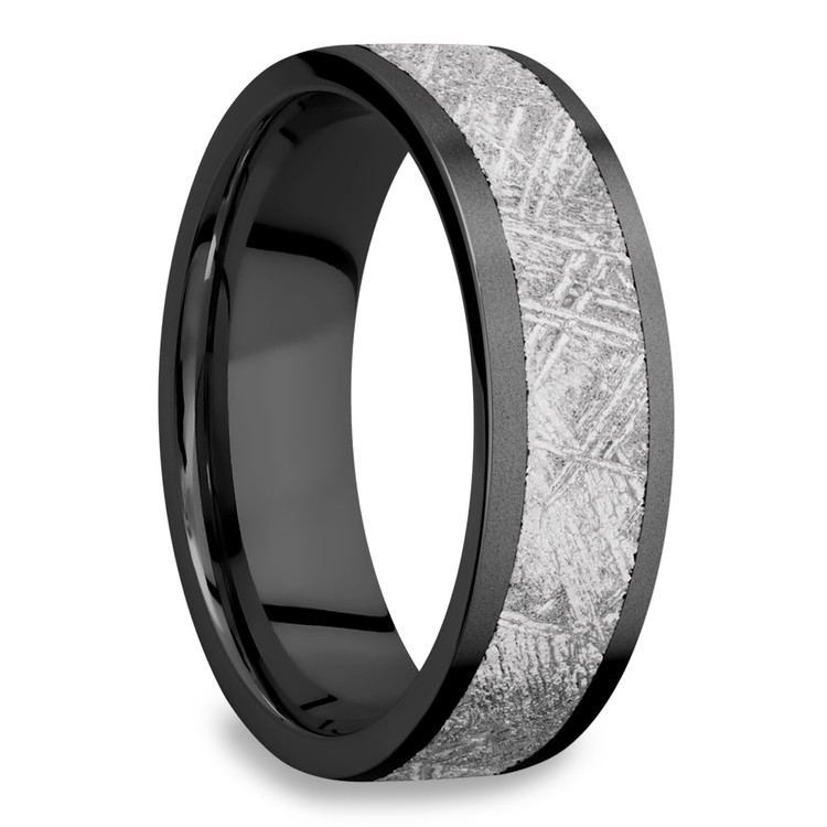 Interstellar - Meteorite & Zirconium Mens Wedding Band | 02