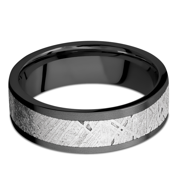 Interstellar - Meteorite & Zirconium Mens Wedding Band | 03