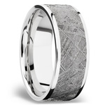 Flat Meteorite Inlay Men's Wedding Ring in Cobalt Chrome (8mm) | Thumbnail 02