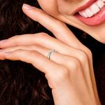 Flat Promise Ring with Princess Diamond in White Gold (2.9mm) | Thumbnail 07