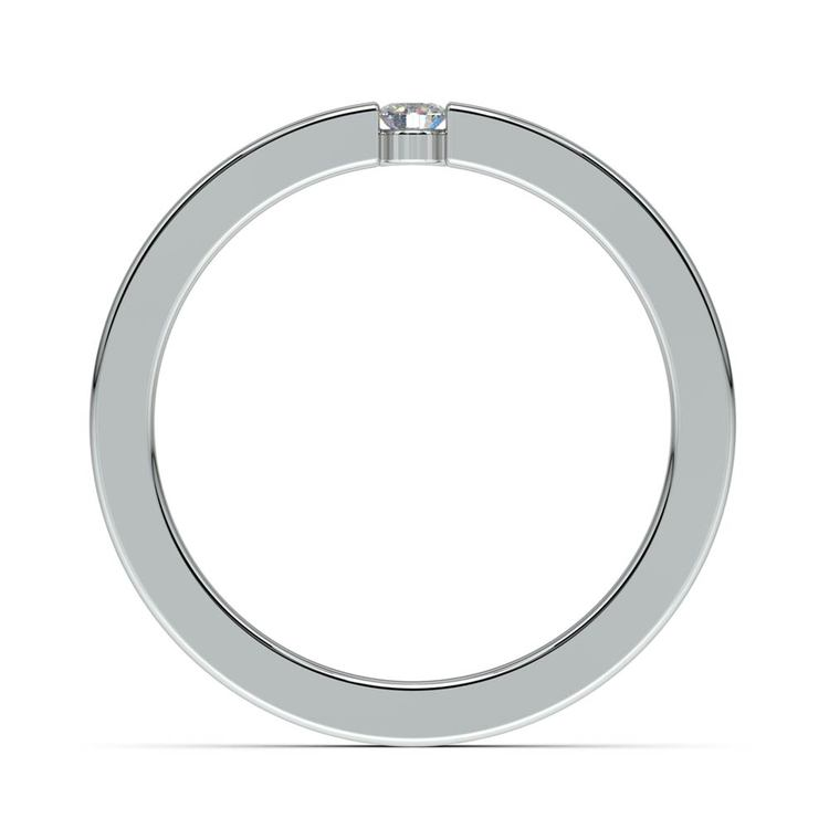 Flat Promise Ring with Round Diamond in White Gold (2.75mm) | 03