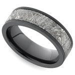Eclipse - Satin Zirconium Mens Ring with Meteorite Inlay | Thumbnail 01