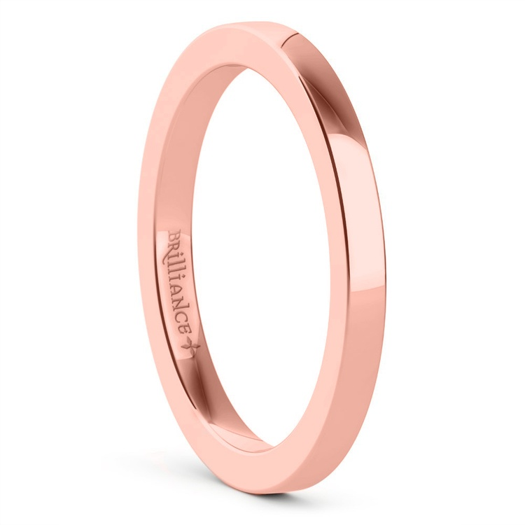 Flat Wedding Ring in Rose Gold (2mm) | 02